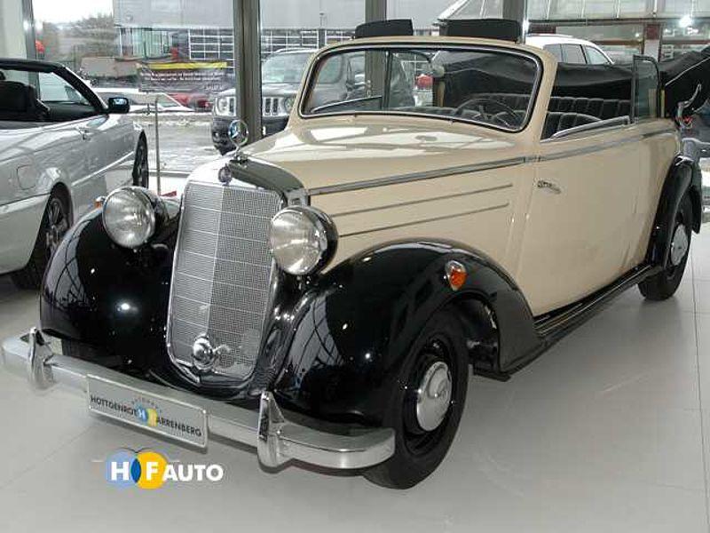 mercedes benz 170s cabriolet lederausst vollrestauriert h. Black Bedroom Furniture Sets. Home Design Ideas